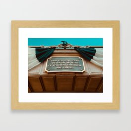 here you leave today... Framed Art Print