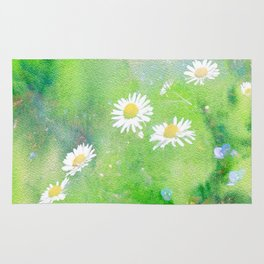 Forget Me Not and Daisies Rug