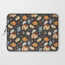 Cozy Cottage Pattern Laptop Sleeve