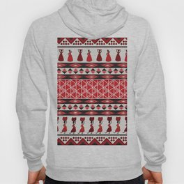 African Tribal Pattern No. 85 Hoody