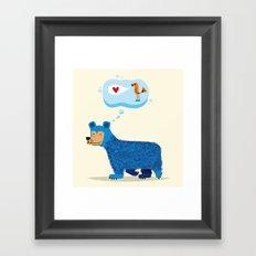 Bear Thinks Of Bird Framed Art Print