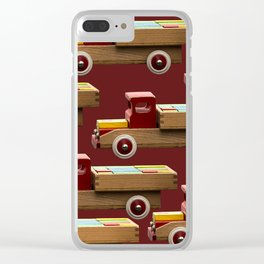 Vintage wooden toy truck #decor #society6 #buyart Clear iPhone Case
