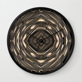 Architectural abstract in four-way symmetry of the Broad, Los Angeles, California Wall Clock