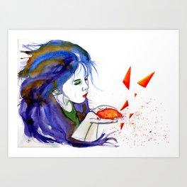 Pouring stars Art Print
