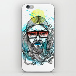 A Man with Shades and Beard iPhone Skin