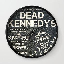 Dead Kennedys Punk Rock Flyer Wall Clock
