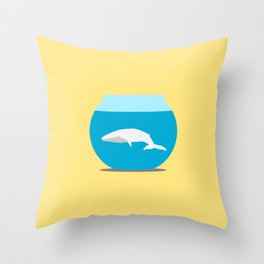 Small whale Throw Pillow