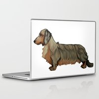 dachshund Laptop & iPad Skins featuring Dachshund by Chelsea-Nebelung