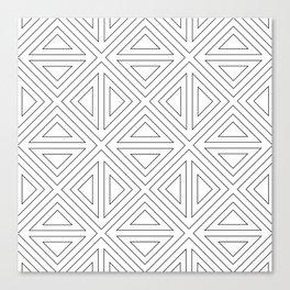 Angled Black Canvas Print
