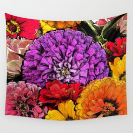 Power Flowers Wall Tapestry