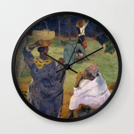 1887 - Gauguin - Among the mangoes at Martinique Wall Clock