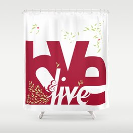 Love & Live (leaves 1) Shower Curtain