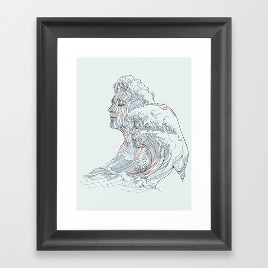 BREATHE DEEPLY Framed Art Print
