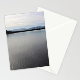 The Sea overview with Mountains Stationery Cards
