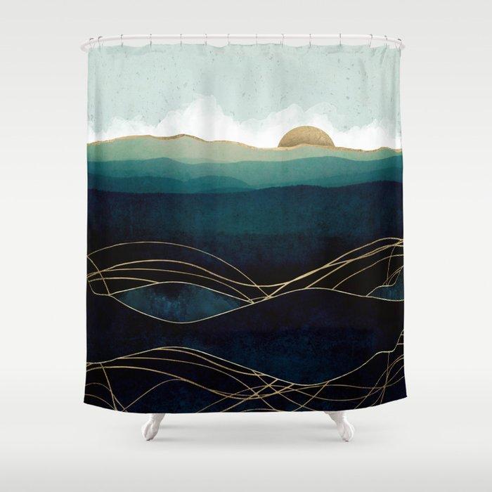 Indigo Waters Shower Curtain