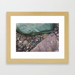 Green and Purple Beach Framed Art Print