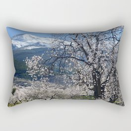 """Flowering Almonds"". At The Mountains Rectangular Pillow"