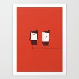 Mara & Ike Art Print