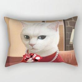 Gambler Cat Rectangular Pillow