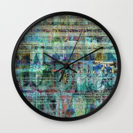 """Bad Oysters Tell No Lies (or """"I'm Keir Dullea"""" 06/07/16 Version) Wall Clock"""
