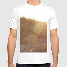 Montauk Sand Dune Sunflare White MEDIUM Mens Fitted Tee