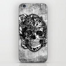 Sugar and Spice grunge candy skull. iPhone & iPod Skin