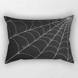 Spiderweb on Black Rectangular Pillow
