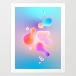 Colored Lava Bubbles Art Print