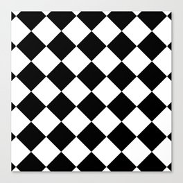 Diamond (Black & White Pattern) Canvas Print