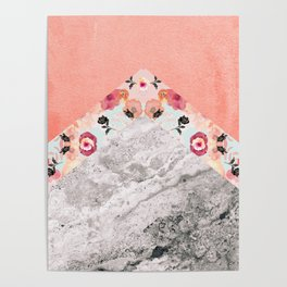 MIX IT BABY - CORAL MARBLE Poster