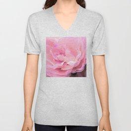 Fine Art Pastel Pink Angel Soft Flower Unisex V-Neck