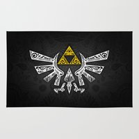 hyrule Area & Throw Rugs featuring Zelda Hyrule by Art & Be