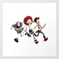toy story Art Prints featuring Toy story by Maxvision