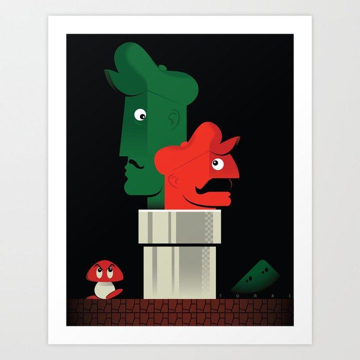 Pipe Down Art Print