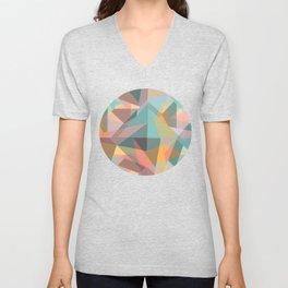Colorful geometric Unisex V-Neck