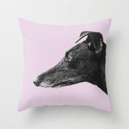 Greyhound Profile Design Throw Pillow