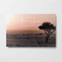 Mara Pink Dawn Metal Print