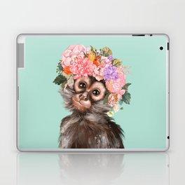 Baby Monkey with Flower Crown Laptop & iPad Skin