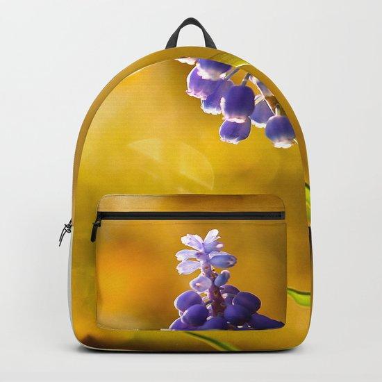 Beautiful Spring Muscari Bokeh background #decor #society6 #buyart  by pivivikstrm
