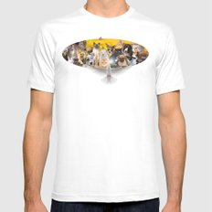 Coexisting MEDIUM White Mens Fitted Tee
