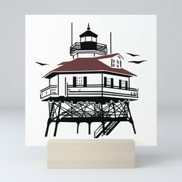 Lighthouse Drawing Illustration Mini Art Print