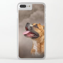 American Staffordshire Terrier Clear iPhone Case