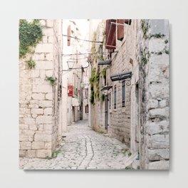 Idyllic street in Croatia Metal Print
