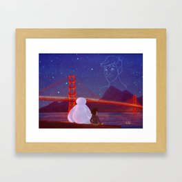 You're in the night sky now, Tadashi Framed Art Print