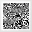 Black white psychedelic optical illusion by lebensartdesign