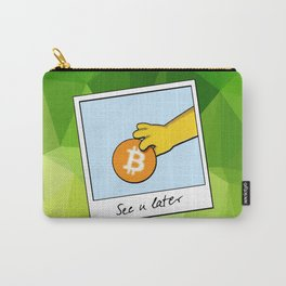 See you later funny Bitcoin Donut on green Carry-All Pouch