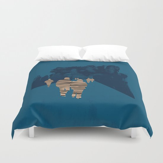 walking for oblivion Duvet Cover
