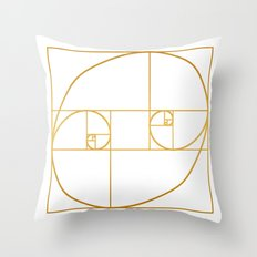 Golden Oval Throw Pillow