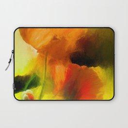 Poppies on green Laptop Sleeve
