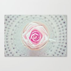 A Cup Of Rose Canvas Print